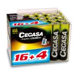 20 piles LR03 / LR3 AAA CEGASA SUPER ALCALINE