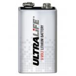 Pile UltraLife lithium 9V PP3 1.2Ah - BATLI10