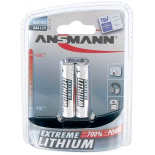 2 piles LR03 / AAA Ansmann Extreme Lithium sous blister