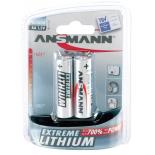 2 piles LR6 / AA 1.5V Lithium pour capteurs d'alarme