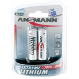 2 piles LR6 / AA Ansmann Extreme Lithium sous blister