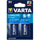 6LR61- VARTA LONG LIFE POWER ALCALINE - BLISTER DE 2