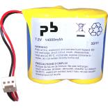 Pile Lithium pour alarme 7.2V 14Ah - BATLI02