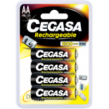 4 piles rechargeables accu AA LR6 1.2V 2100mAh