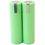 Batterie de rasoir électrique 2xAA NI-MH 2.4V 2000mah avec pattes