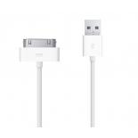 Câble de charge et synchro USB 1M pour iPhone 4, iPad et iPod