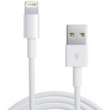 Câble LIGHTNING / USB 1M blanc pour iPhone 5, iPad 4, iPod touch 5G, iPod nano 7G