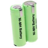Batterie de rasoir électrique 2x 4/5AA NI-MH 2.4V 1200mah avec pattes
