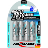 4 piles rechargeables accu ANSMANN AA LR6 1.2V 2850mAH