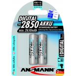 2 piles rechargeables accu ANSMANN AA LR6 1.2V 2850mAH