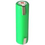 Batterie de rasoir électrique AA NI-MH 1.2V 2000mah avec pattes