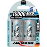 2 piles rechargeables Ansmann D LR20 1.2V 10000mAh