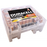 Pack de 35 piles Duracell Plus  avec boite de rangement