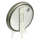 Pile lithium 3V 560mAh CR2450-1GV avec pattes � souder verticales