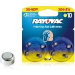 8 piles auditives Rayovac AH10 / PR70 / ZA10 SOUS BLISTER