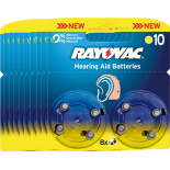 80 piles auditives RAYOVAC 10