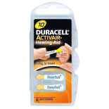 6 piles auditives Duracell 10 / PR70 / ZA10