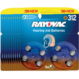 80 piles auditives RAYOVAC 312