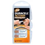 6 piles auditives Duracell 312 / PR41 / ZA312