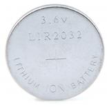 Pile bouton rechargeable LIR 2032 lithium 3.6V 40mAh