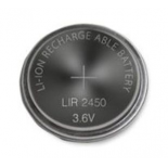 Pile bouton rechargeable LIR 2450 lithium 3.7V 120mAh