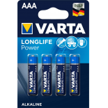 4 piles LR03 / LR3 AAA VARTA HIGH ENERGY alcalines sous blister