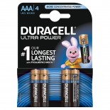 4 piles LR03 AAA Duracell Ultra Power sous blister