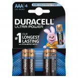 4 piles LR03 AAA Duracell Ultra Power sous blister