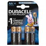 4 piles LR6 AA Duracell Ultra Power sous blister