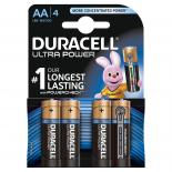 4 piles LR6 AA Duracell Ultra Power sous blister