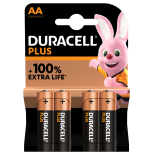 4 piles LR6 AA Duracell Plus Power sous blister