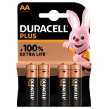 4 piles LR6 AA Duracell Plus Power sous blister
