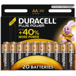 20 piles LR6 AA Duracell Plus Power sous blister