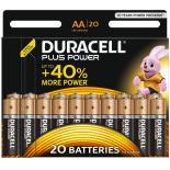 20 piles LR6 AA Duracell Plus Power sous blister