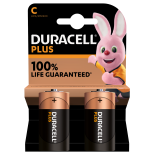 2 piles LR14 C Duracell Plus Power sous blister