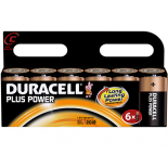 6 piles LR14 C Duracell Plus Power sous blister