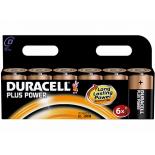 6 piles LR20 C Duracell Plus Power sous blister