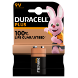 1 pile 6LR61 9V Duracell Plus Power sous blister