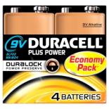 4 piles 6LR61 9V Duracell Plus Power sous blister