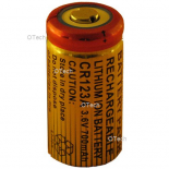Batterie photo numerique type CR-123 Li-ion 3.7V 600mAh