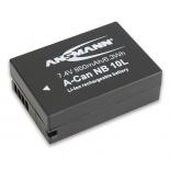 Batterie de camescope type Canon NB-10L Li-ion 7.4V 850mAh