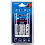 Chargeur de piles rechargeables Rapide PANASONIC ENELOOP + 4 accus Eneloop LR6 AA 2000mAh