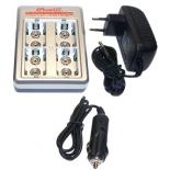 Chargeur rapide IPOWERUS 4 positions pour accus 9V NiMh / NiCd / Li-Ion / Li-po