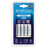 Chargeur de piles rechargeables PANASONIC ENELOOP + 4 accus Eneloop LR6 AA 2000mAh
