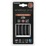 Chargeur de piles rechargeables Rapide PANASONIC ENELOOP + 4 accus Eneloop XXX LR6 AA 2500mAh