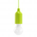 Lampe E27 à Led PULL-LIGHT LP1W Verte avec interrupteur pour éclairage autonome + 3 piles AAA