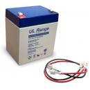 Batterie pour portail motorisé plomb 12V 4Ah / 5Ah avec câbles