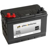 Batterie camping car 12V 100AH 720A DUAL XV27MF démarrage et décharge lente