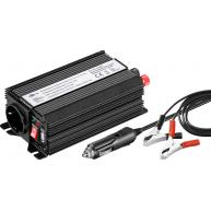 Convertisseur de tension 12V-300W avec prise allume-cigare et pinces