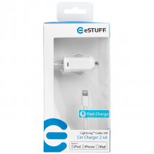 Chargeur allume cigare ligthning 2.4A pour Apple Iphone 5 / 5S / 5C / 6 / 6S